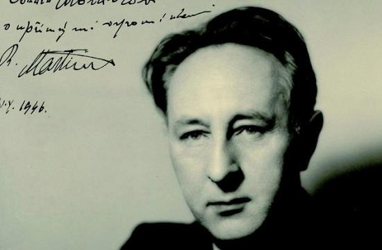 Portrétní fotografie Bohuslava Martinů svěnováním