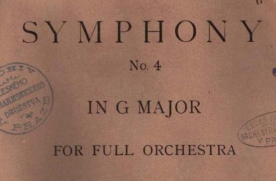 Partitura Dvořákovy Symfonie č.8 spodpisem autora