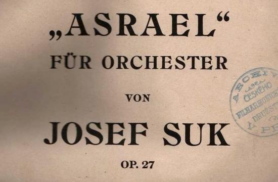První vydání partitury Sukova Asraela I