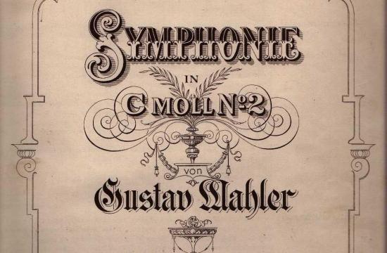 Partitura Mahlerovy Symfonie č.2