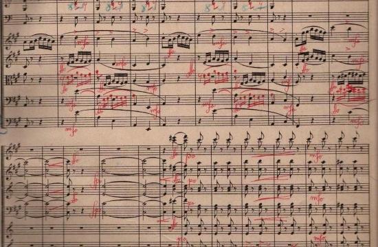Partitura Beethovenovy Symfonie č.7 II