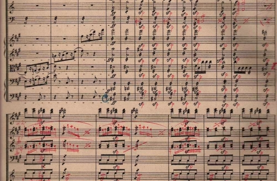 Partitura Beethovenovy Symfonie č.7 I