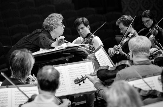 Semyon Bychkov, rehearsal