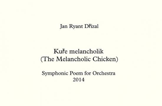 Partitura skladby Kuře melancholik
