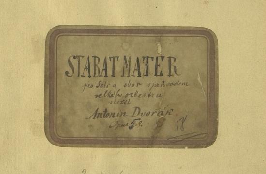 Desky autografní partitury Stabat Mater