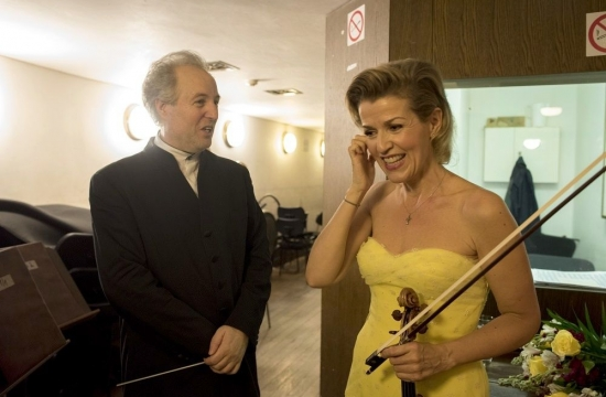 With the violinist Anne-Sophie Mutter