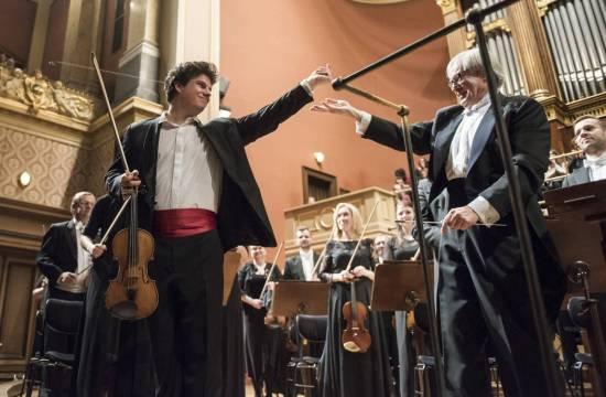 Jan Mráček s Petrem Altrichterem, 10. 1. 2018 vRudolfinu