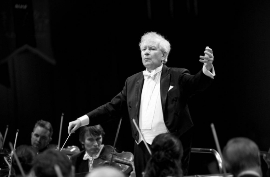 Chief Conductor Jiří Bělohlávek during one of the many rehearsals
