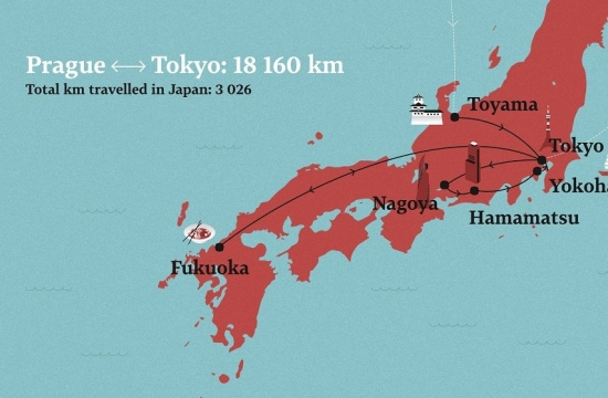 Map ofthe Japan tour