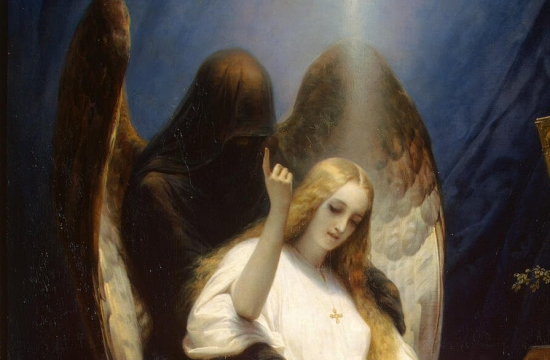 Émile Jean-Horace Vernet  – Anděl smrti, 1851