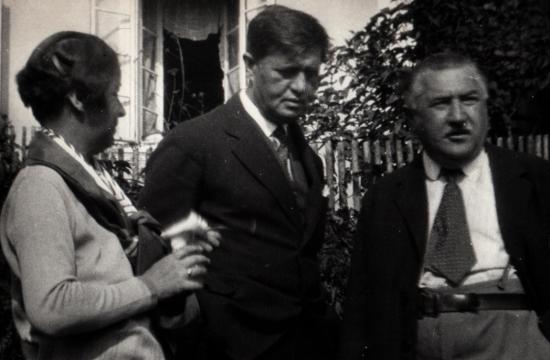 Josef Suk aVáclav Talich smanželkou Vidou, 1928