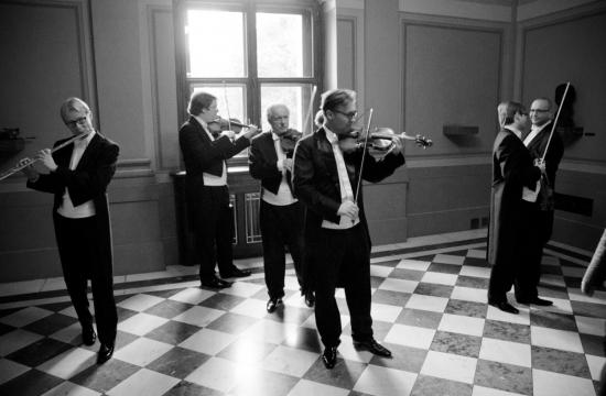 """Filharmonici při""""rozcvičce"""""""