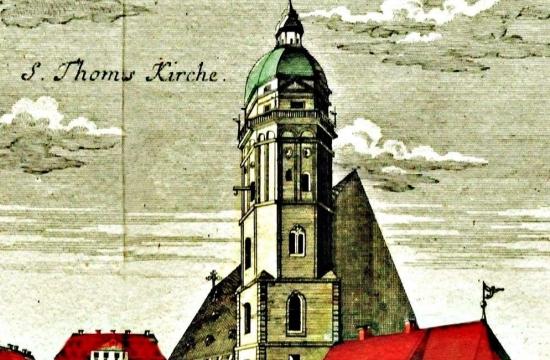 Kostel svatého Tomáše vLipsku nadobové grafice