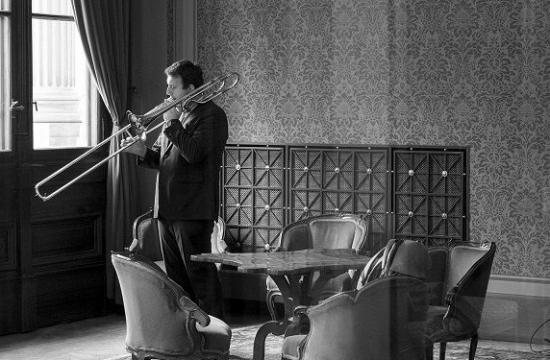 Trombonista aautor hudební úpravy Robert Kozánek natáčel vPrezidentském salonku