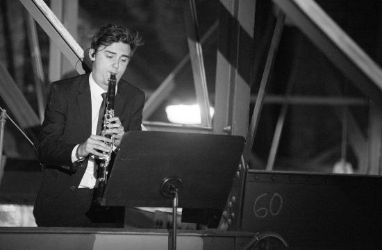 Na půdě Dvořákovy síně natočil svůj part klarinetista Libor Suchý, člen Orchestrální akademie ČF