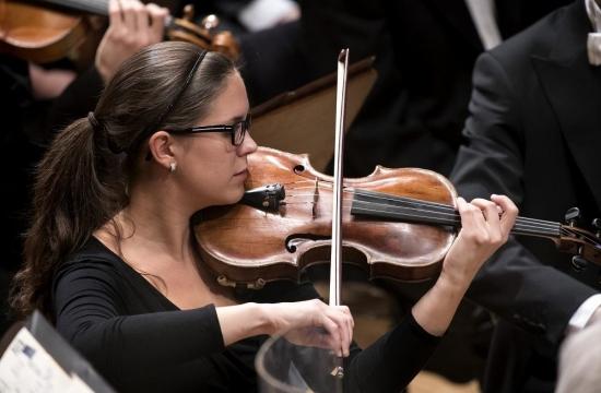 Členové Orchestrální akademie přikoncertech