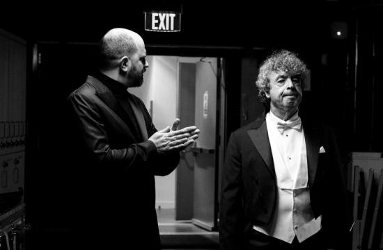 Semjon Byčkov a Kirill Gerstein před příchodem na pódium