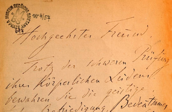 Dopis Franze Liszta Bedřichu Smetanovi