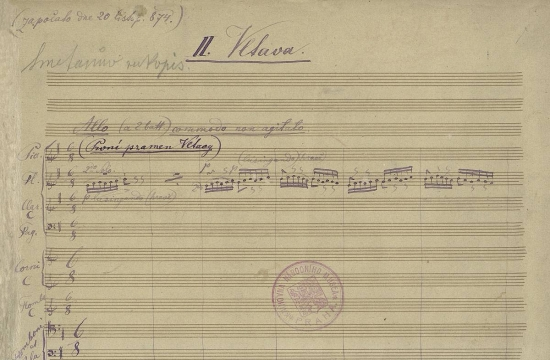 Partitura Vltavy