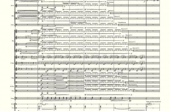 Partitura vítězné skladby Kuře melancholik