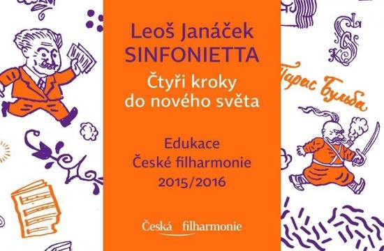 Obálka programu edukačního cyklu České filharmonie Čtyři kroky donového světa