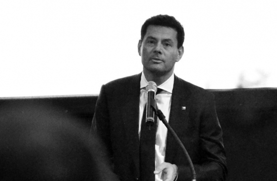 Karel Komárek při svém proslovu ve Washingtonu