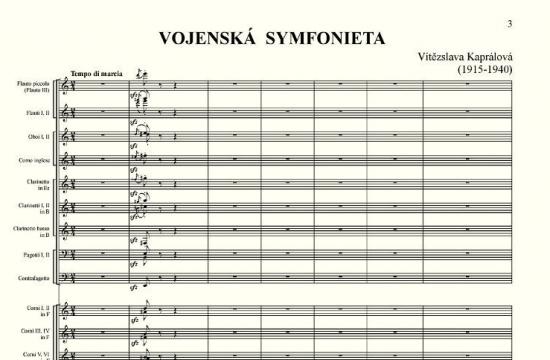Vítězslava Kaprálová / Vojenská symfonieta