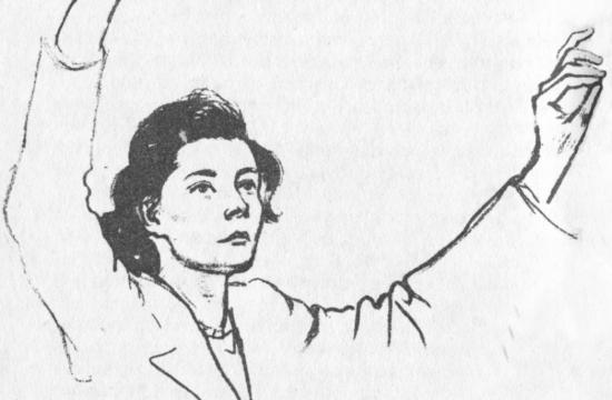 Vítězslava Kaprálová nakresbě Rudolfa Kundery