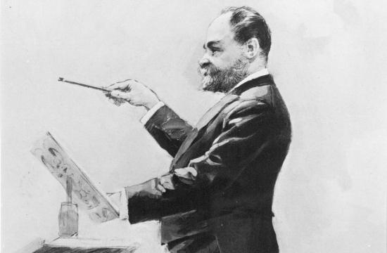 Antonín Dvořák dirigující