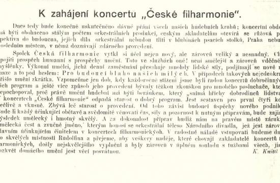 Uvítání koncertu vhudebním časopise Dalibor