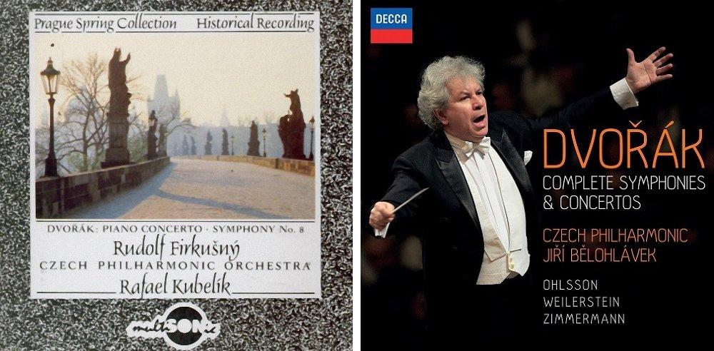 Dvě živé nahrávky 8. symfonie na CD nosičích.