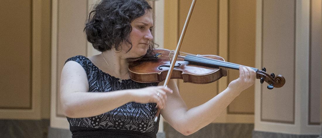 Houslistka Magdaléna Mašlaňová | Foto Petr Kadlec