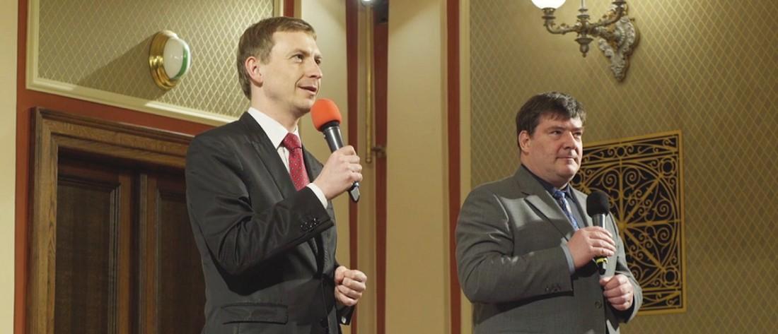 Petr Kadlec a Pavel Ryjáček moderují preludium před abonentním koncertem České filharmonie